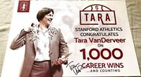 Tara VanDerveer signed autographed 2017 Stanford Cardinal 1000 Wins sign poster