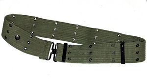 Vintage OD Green M1936 U.S. Style Pistol Web Belt Cotton Canvas Made in Japan