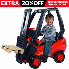 BIG Linde KIDS Ride On FORKLIFT CAR TRACTOR - With Pallet - NEW SEALED RRP $799