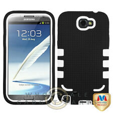 Samsung N7100 Note 2 TUFF eNUFF Hybrid Case Black/White Cover Shell Protector