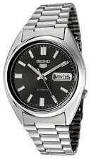 BRAND NEW Seiko 5 Gents BLACK Dial Automatic Stainless Steel Watch SNXS79K G'tee