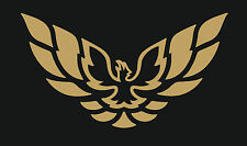 Trans Am Firebird Large EAGLE HOOD GRAPHIC DECAL STICKER GOLD Bird