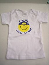 Little Brother T-Shirt, Smiley Face Design, Size Small--0-6 months, New