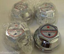 AMERICAN RACING Chrome Custom Wheel Center Caps Set of 4 # 898005A/F204-25 NEW!