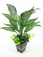 Potted Artificial Silk Saffron Spike Zebra Plant ~ house plant