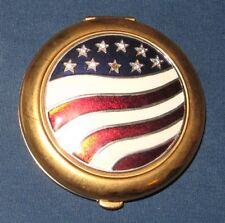 Estee Lauder Lucidity American Flag w Rhinestones Compact – Transparent 06