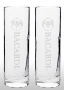 Bacardi Tall Glass X 2 New & Rare