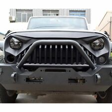 FRONT MATTE BLACK ANGRY BIRD GRILL FOR 2007-17 JEEP WRANGLER JK & UNLIMITED