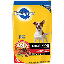Pedigree Small Dog Targeted Nutrition, Steak and Vegetable Dry Dog Food (20 lbs.