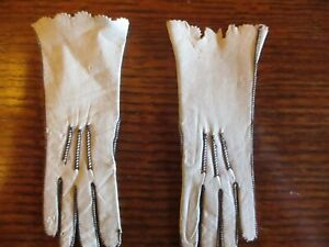"4"" Long Antique Kid Leather Doll Gloves For French Fashion"