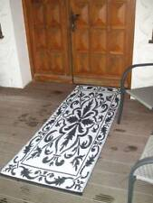 Balkonteppich Outdoor-Teppich wetterfest 70 x 200 cm schwarz-w Versandkostenfrei