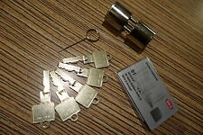BKS neu Rundzylinder 29-15-29 =72mm B3107 + 5 Schüssel + Sicherungs Karte  (1g)