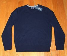 $168 New VINEYARD VINES Wool Cashmere Sweater V-Neck Men's Small S Navy Blue NWT