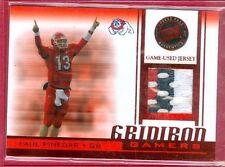 2007 PRESS PASS (FB) Paul Pinegar SP GRIDIRON GAMERS 3-CLR PATCH RC CARD #GG-PP