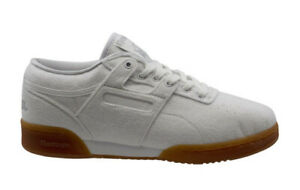 Reebok Workout Lo Clean Solebox Mens White Textile Lace Up Trainers BS7684