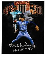 PHIL NIEKRO Signed NY YANKEES  8x10 photo MLB Hall of Famer HOF CUSTOM EDIT