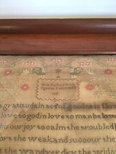 1831 Sampler By Jane Parker Work in Old Pine Frame