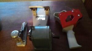 Vintage stapler, hole punch, pencil sharpener, tape reel