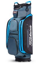 New Titleist 14 Club Cart Bag (Charcoal/Black/Process Blue) Free Shipping