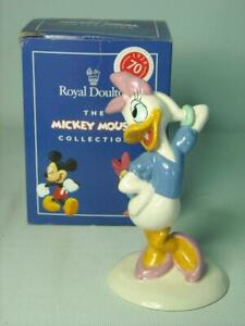 Royal Doulton DAISY DUCK Figurine MM4 70th Mickey Mouse Collection Disney + Box