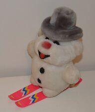 Ancienne Peluche Plush BOULI bonhomme de neige SKI Vintage 21 cm années 80