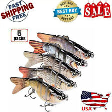 5 Pack New 2020 Lure Robotic Swimming Free Shipping Freshwater