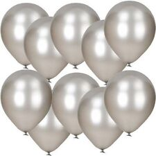 Pack of 25 12'' - Latex Pearl Silver - Balloons Wedding Party Helium Air