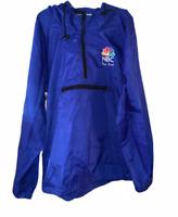 VINTAGE Men's NBC Windbreaker jacket- Blue- Medium- Free Shipping