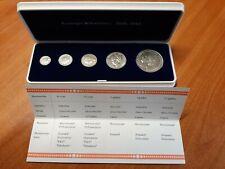 Collectie Koningin Wilhelmina 5 zilveren munten 1898-1948 CASSETTE+ COA