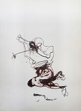 Paul rebeyrolle (1926-2005) litografia. rendi le Miroir 250. 1982