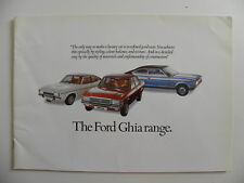 Brochure the FORD GRANADA Ghia range de 02 / 1975