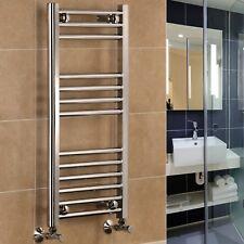 Chrome Straight Central Heating Towel Rail Warmer 400 500 600 Wide Bathroom