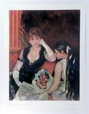 Vintage PIERRE AUGUSTE RENOIR At the Concert Impressionist Lithograph 90s #Z116