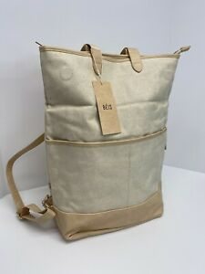 BEIS The Convertible Backpack in Beige Women's bag comfortable Large #00
