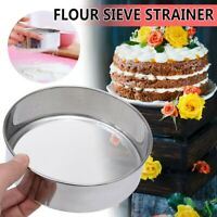 Stainless Steel Professional Round Flour Sieve Strainer with 40 Mesh-14.5*4.5cm