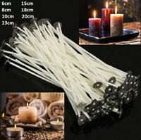 White Pre Wicks Candle Making Waxed With Sustainers Cotton Different Sizes