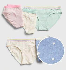 New Gap Girls 5 Pack Panties Bikinis Underwear 7 8 10 12 16 yr Polka Dot Pastel