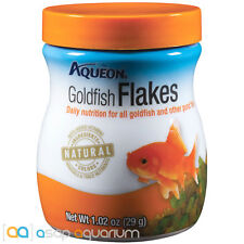 Aqueon Goldfish Flakes Fish Food 1.02 oz Jar Daily Nutrition for all Goldfish