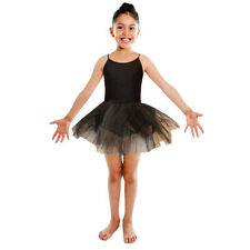 Black Swan Tutu Leotard Girls Dance Halloween Fancy Dress Costume Ballet Cat