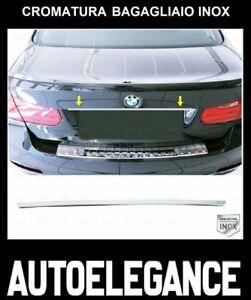 CROMATURA BAGAGLIAIO BMW SERIE 3 F30 F80 2011-2018 ACCIAIO INOX ADESIVO 0029