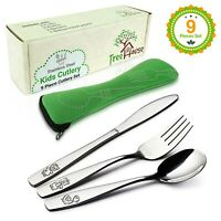 Toddler Silverware Set (9PCS) Stainless Steel Flatware Training Toddler Utensils