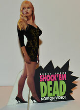 RARE! SHOCK 'EM DEAD 1991 ORIG. 7x10 COUNTER CARD CUTOUT SIGNED BY TRACI LORDS