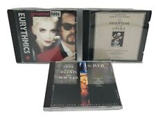 90's CDs Eurythmics Greatest Hits, Sliver & Phantom of the Opera Music Lot of 3