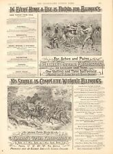1893 ANTIQUE PRINT - ADVERT- ELLIMAN'S, ARTILLERY, RUGBY