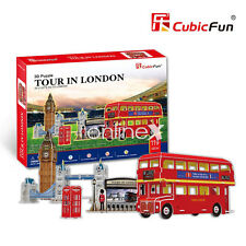 Puzzle 3D TURISMO POR LONDRES 5 Puzzles CubicFun Inglaterra 119 PIEZAS a2446