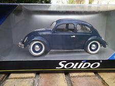 SOLIDO 1/18em: VW COCCINELLE grande fenêtre, bleue, roues bleues neuf en boite