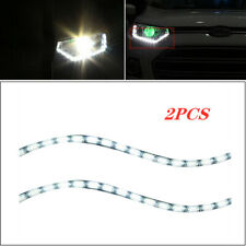 2PCS LED Headlight Light Daytime Running Flow Turn Signal LED Tears DRL Strips
