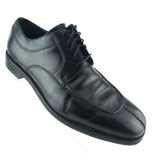 Cole Haan Men's Oxford Shoes US 12M Black Leather Split Toe Apron Derby Lace Up