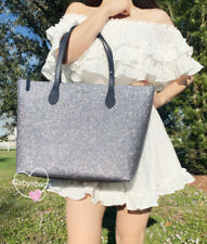 Kate Spade Joeley Glitter Large Tote Handbag Dusk Navy Bag WKRU6278