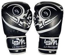 10oz Adult Black Tattoo Hybrid Boxing Gloves